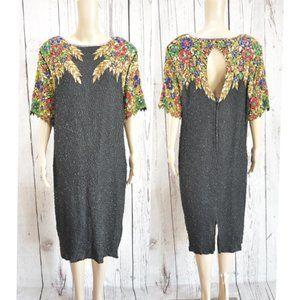Vintage 80's  Stenay 100% Silk  Dress